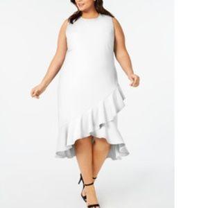 NWT Calvin Klein Plus Size Ruffle hem dress